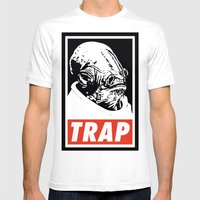 Obey Ackbar's TRAP Mens Fitted Tee White SMALL