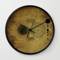Ancient Spacemap Wall Clock