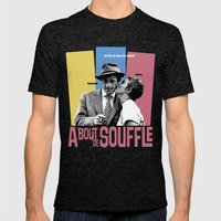 A Bout de Souffle Mens Fitted Tee Tri-Black SMALL