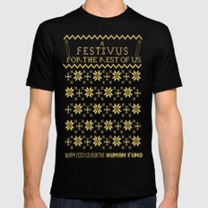 A Festivus for the Rest of Us. Mens Fitted Tee Black SMALL