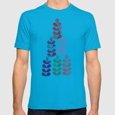 pattern 5 Mens Fitted Tee Teal SMALL