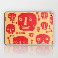 Skulls & Bones - Red/Yellow Laptop & iPad Skin