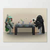 Star Poker Game Canvas Print