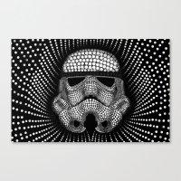 Trooper Star Circle Wars Canvas Print