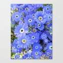 Happy and Blue Canvas Print