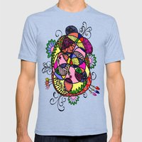 Doodle Fun Mens Fitted Tee Tri-Blue SMALL