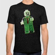 Zombie Mens Fitted Tee Tri-Black SMALL