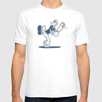 the Sailor with Dragon Tatoo Mens Fitted Tee White SMALL