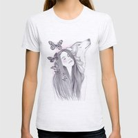 Wolf To The Moon Womens Fitted Tee Ash Grey SMALL
