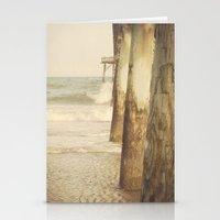 Fishing Pier Surf City Beach Topsail Island NC Lomo Vintage Stationery Cards