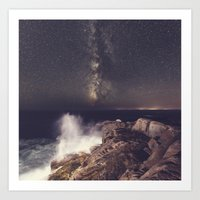 Wave Of Night Art Print
