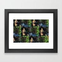 Mariposas Negras  Framed Art Print