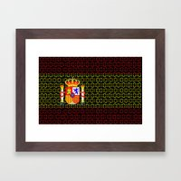 digital Flag (spain) Framed Art Print