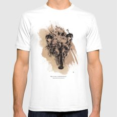 Solitude is independence SMALL White Mens Fitted Tee