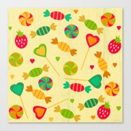 Canvas Print featuring Candy Shop by Kakel