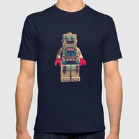 Robot 2000 Mens Fitted Tee Navy SMALL