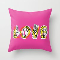 IT'S LOVE Throw Pillow