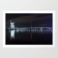 Bridge at evening Art Print