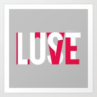 Love=Lust Art Print