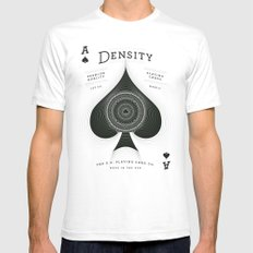 Ace of Spades — Density SMALL Mens Fitted Tee White