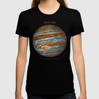 Jupiter Womens Fitted Tee Black SMALL