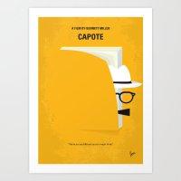No671 My Capote minimal movie poster Art Print