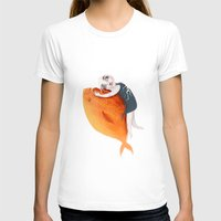 The Fish Girl Womens Fitted Tee White SMALL