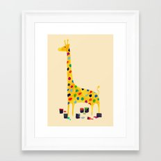 Paint by number giraffe Framed Art Print