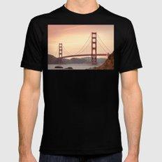 Golden Gate Bridge (San Francisco, CA) Mens Fitted Tee Black SMALL