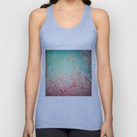 Blue Autumn, Pink Leafs … Unisex Tank Top