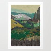 Buffalo Mountains Art Print