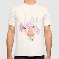 Fox & Foxgloves  Mens Fitted Tee Natural SMALL