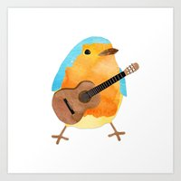 Music Bird Art Print