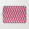 Red Leaf Herringbone Laptop Sleeve