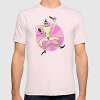 Heshe Mens Fitted Tee Light Pink SMALL