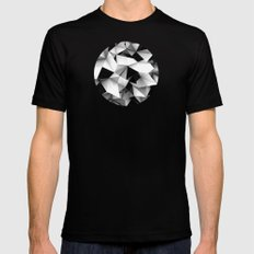 Origami or something.   Mens Fitted Tee Black SMALL