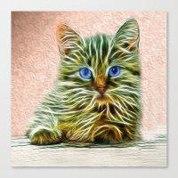 Cat Art Illustration Canvas Print