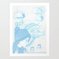 Winter sounds Art Print