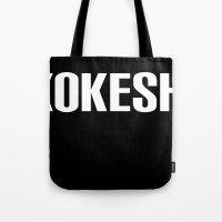 KOKESHI FONT WHITE Tote Bag