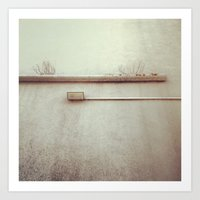Wall Pipes Art Print