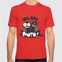 We Are Nuts! Mens Fitted Tee Red SMALL