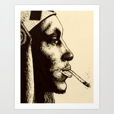 Tricky in Ink Art Print