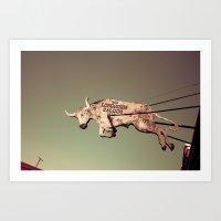 The Longhorn Saloon, For… Art Print