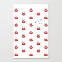 Canvas Print featuring XOXO Open Toe by Silbox