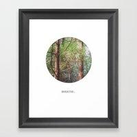 Breathe. Framed Art Print