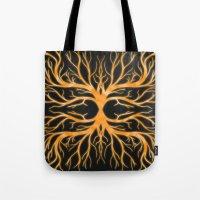 Ghostly Vines (Flaming Orange Ghost) Tote Bag