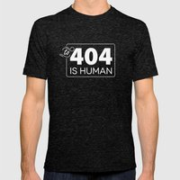 To 404 Is Human Mens Fitted Tee Tri-Black SMALL