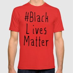 #Black Lives Matter Mens Fitted Tee Red SMALL