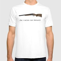 This is not my Boomstick Mens Fitted Tee White SMALL