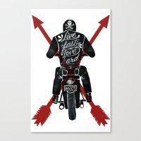 Live Fast, Love Hard Canvas Print